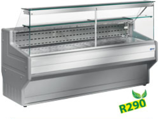 REFRIGERATED DISPLAY COUNTER-FRONT GLASS 90°
